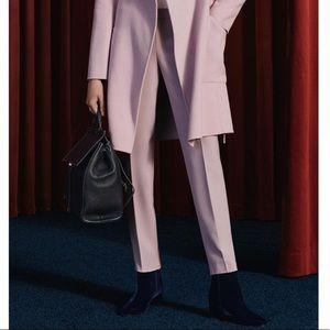 BOSS Tiluna Side Zip Cotton Crepe Pink Trouser